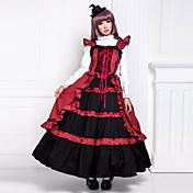 ワンピース/ドレス ゴスロリータ ヴィクトリアン コスプレ ロリータドレス パッチワーク ノースリーブ ロング丈 ドレス ために コットン