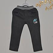 Pantalones Boy-Invierno / Otoño-Algodón-Un Color