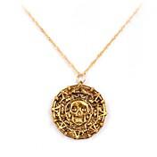 piratas del azteca collar colgante película aleación caribe (dorado, cobrizo) (1 unidad)
