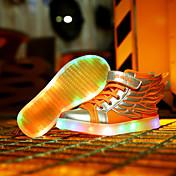 Para Niño-Tacón Plano-Innovador Light Up Zapatos-Zapatillas de deporte-Informal-Cuero-Negro Amarillo Blanco Oro