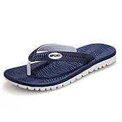 Masculino sapatos Sintético Primavera Verão Outono Inverno Conforto Chinelos e flip-flops Para Casual Social Preto Cinzento Azul