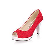 Mujer Tacones Confort Innovador Tul Verano Otoño Casual Vestido Tacón Stiletto Blanco Negro Beige Rojo 5 - 7 cms