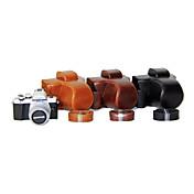 dengpin® PU de cuero de la cámara cubierta de la bolsa caso de la correa de hombro para Olympus E-m10 Mark II mark2 EM10 (colores surtidos)