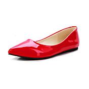Mujer Zapatos Cuero Patentado Primavera Verano Otoño Invierno Tacón Plano Para Casual Vestido Amarillo Rojo Verde Almendra Azul Real