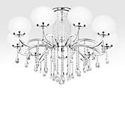 Lámparas Araña ,  Moderno / Contemporáneo Galvanizado Característica for Cristal Metal Sala de estar Dormitorio Comedor 9 Bombillas