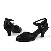 Zapatos de baile(Negro / Rojo / Plata / Oro) -Latino-No Personalizables-Tacón Cubano