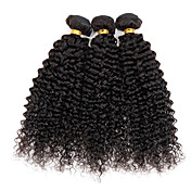 Cabello humano Cabello Peruano Tejidos Humanos Cabello Rizado rizado Ondulado Extensiones de cabello 3 Piezas Color natural