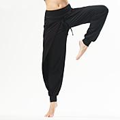 Pantalones de yoga Pantalones/Sobrepantalón Transpirable Cómodo Cintura Media Eslático Ropa deportiva Gris Negro MujerYoga Ejercicio y