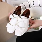 MujerConfort-Tacones-Casual-Cuero Patentado-Negro / Blanco