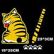 etiquetas engomadas del coche divertido 3d en movimiento de la cola de gato pegatinas reflexiva del coche estilo del limpiaparabrisas