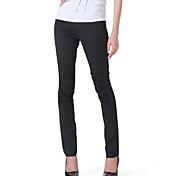 De las mujeres Pantalones Ajustado - Vintage/Bodycon/Casual/Fiesta/Para Trabajo/Tallas Grandes Microelástico - Algodón/Licra/Poliéster