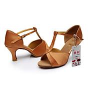 Zapatos de baile(Negro / Marrón / Plata / Oro / Otro) -Latino-Personalizables-Tacón Personalizado