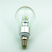 4W E14 Bombillas LED de Globo 8 SMD 5730 180 lm Blanco Cálido Decorativa AC220 V 1 pieza