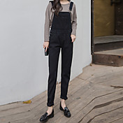 Mujer Un Color Tiro Medio strenchy Delgado Pantalones,Lápices Color sólido Color puro