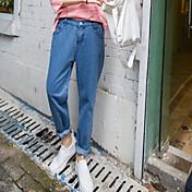 Signo de jeans nuevos pantalones harem femenino pantalones sueltos delgada cintura elástica pantalones de los pantalones casuales