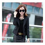 2016潮がバックル小さなスーツのジャケットの女性の秋の韓国の短い段落長袖のスーツスリム薄かったです