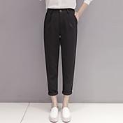 pantalones cónica juego del ocio pies pantimedias pantalones harem de la manera femenina de Corea cintura