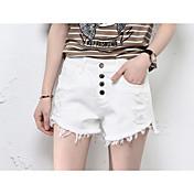 Mujer Adorable Tiro Medio Microelástico Shorts Pantalones,Corte Ancho Un Color