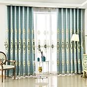 Dvije zavjese Prozor Liječenje Europska , Cvijet Bedroom Polyester Materijal Zavjese Zavjese Početna Dekoracija For Prozor