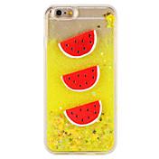 Caso para el iphone de la manzana 7 7 más el flujo líquido de la fruta del patrón del brillo del brillo PC dura 6s más 6 más 6s 6