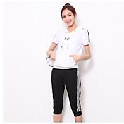 Mujer Simple Deportes Casual/Diario Verano Sudadera Pantalón Trajes Un Color Manga Corta Microelástico