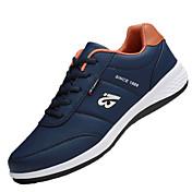 Hombre Zapatillas de Atletismo Running Confort PU Primavera Otoño Tacón Plano Blanco Negro Azul Plano