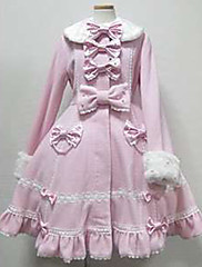 Kabát Gothic Lolita Princeznovské Cosplay Lolita šaty Růžová Bílá Módní Dlouhý rukáv Lolita Kabát Pro