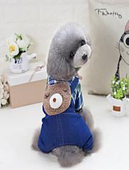 犬 ジャンプスーツ 犬用ウェア カジュアル/普段着 ジーンズ ブラック ブルー