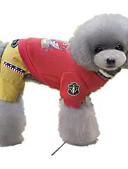 犬 ジャンプスーツ 犬用ウェア カジュアル/普段着 セーラー グレー レッド