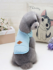 犬 コート 犬用ウェア カジュアル/普段着 純色 イエロー レッド ブルー