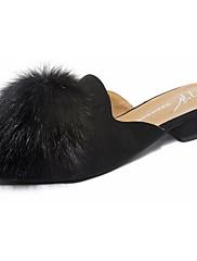 Feminino Sapatos Couro Ecológico Primavera Verão Conforto Solados com Luzes Tamancos e Mules Salto Baixo Dedo Apontado Para Casual Social