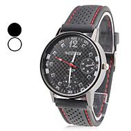 Pánské Náramkové hodinky japonština Křemenný Silikon Kapela Černá Bílá Černá