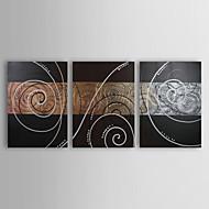 Hånd-malede Abstrakt Europæisk Tre Paneler Kanvas Hang-Painted Oliemaleri For Hjem Dekoration