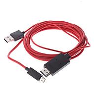 MHL Micro USB male naar HDMI Male naar USB Male Adapter kabel voor Samsung Galaxy S3 I9300