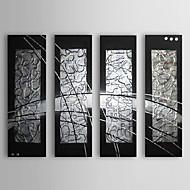 Ручная роспись Абстракция Горизонтальная,Классика 4 панели Hang-роспись маслом For Украшение дома