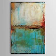 Peint à la main Abstrait Verticale,Traditionnel Un Panneau Peinture à l'huile Hang-peint For Décoration d'intérieur