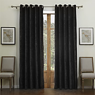 Two Panels Curtain Modern , Solid Dining Room 55% Cotton Chenille/45% Rayon Rayon Material Curtains Drapes Home Decoration For Window