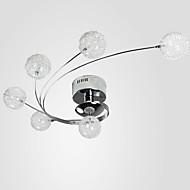 Uppoasennus ,  Moderni Muut Ominaisuus for Kristalli Metalli Living Room Ruokailuhuone Kitchen 6 Lamput