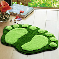 "Tapis de bain 16x24 Footprint Pattern ""Green"