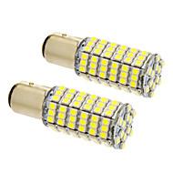 BAY15d / 1157 8w. 120x3020smd 660lm 5500-6500k chladné bílé světlo LED žárovka pro auta (12V, 2ks)