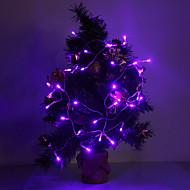 אור 4M 3W 40 ראשות 210lm סגול / צהוב / אדום / כחול / לבן / לבן חם הוביל רצועת אור לקישוטי חג המולד
