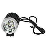 Lanternas de Cabeça / Luzes de Bicicleta Cree XM-L T6 Ciclismo Recarregável / Controle de Ângulo 18650.0 2400-3000 LumensBateria /