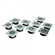 Sada 8 Stainless Steel White LED nerezové oceli Solární profdlážka světla