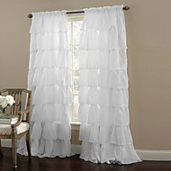 Jedna ploča Prozor Liječenje Moderna , Jednobojni Living Room Polyester Materijal Sheer Zavjese Shades Početna Dekoracija For Prozor