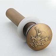Antique Brass Pop-up Vesi Drain