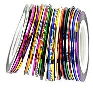 30kpl sekoittaa värejä rullat raidoitus tape line kynsikoristeet koriste tarra