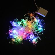 5M 40-LED Flerfarvet Butterfly Light String Wedding Party Jul Lamp (AC 220 V)