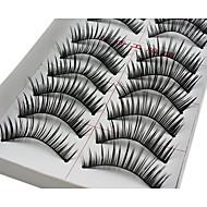 Cílios Cílios Pestana Alonga a Estremidade do Olho Volumizado Natural Fibra