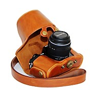 dengpin® lederen beschermhoes camera case olie huid met schouderband voor Olympus OM-d e-m10 met 14-42mm lens
