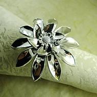 käsi kukka lautasliina sormus hopea, akryyli beades, 4,5 cm, sarja 12